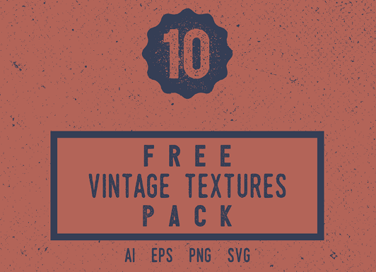 Free Vintage Texture Pack (PNG and Vector files)