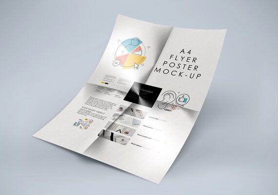 Folded A4 Flyer Mockup