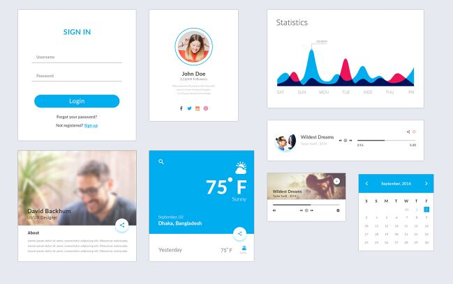 Material UI Kit (Freebie)