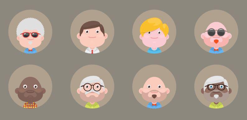material-avatars-set