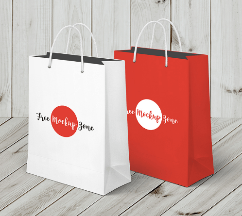 Shopping Bag Mock-up Freebie
