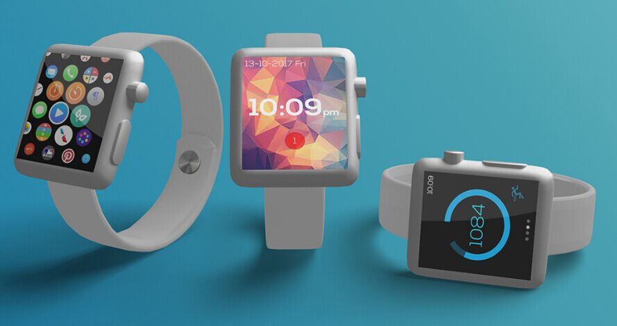 Basic Apple Watch Mockup 3in1 (Free PSD)