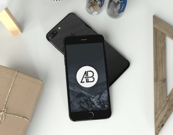 realistic-jet-black-iphone-7-plus-mockup