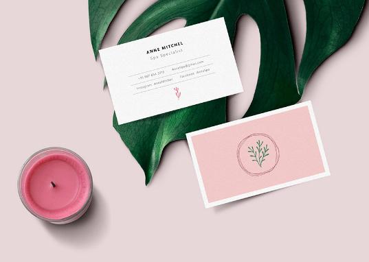 feminine-business-card-mockup