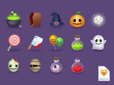 halloween-icons-freebie-sketch