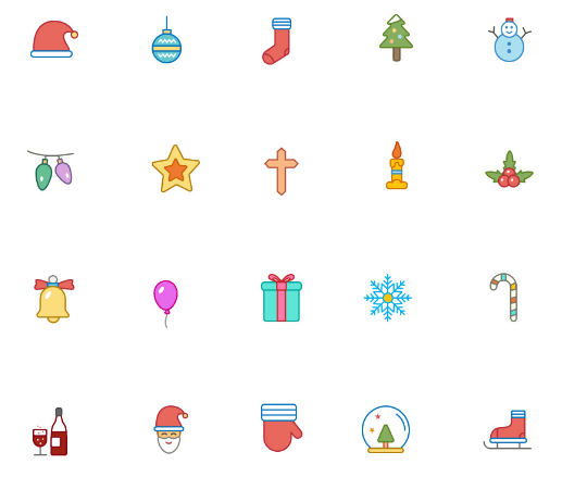 christmas-color-and-outline-icons