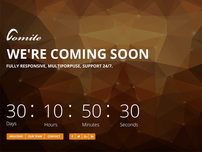 Comite - Timer Coming Soon PSD Template