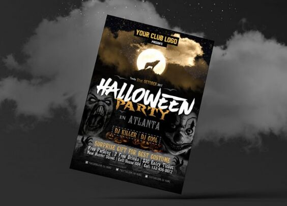 Free Halloween Party Flyer Design Presentation