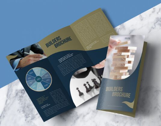 Modern Premium Tri-Fold Brochure Mock-up