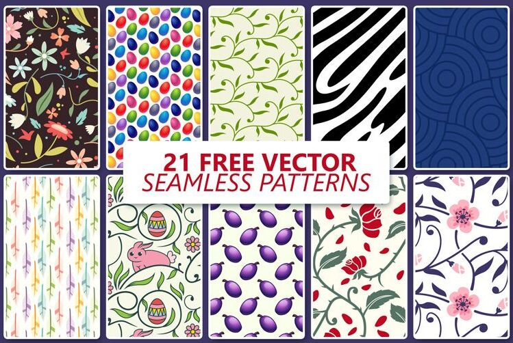 20 Free Vector Seamless Patterns