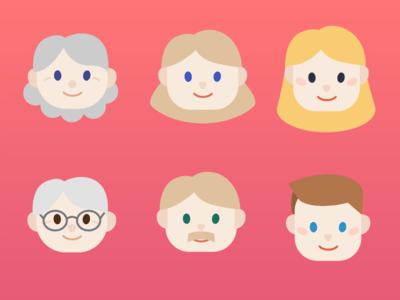 3 Generations Illustration - Free Download