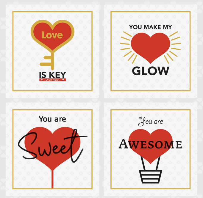 4 Free Valentine Greeting Card Templates