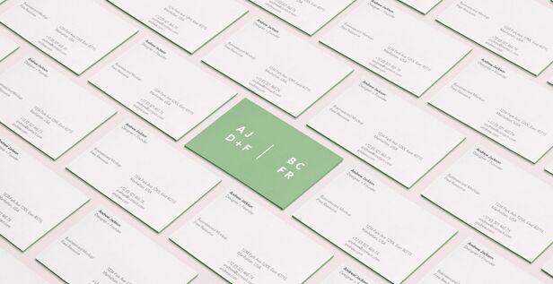 Psd Business Card Mock-Up Vol37
