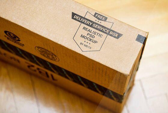 DELIVERY SERVICE BOX Mockup