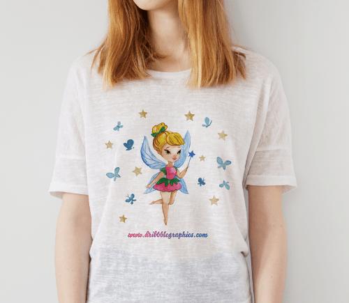 Free Gorgeous Girl T-Shirt MockUp Psd