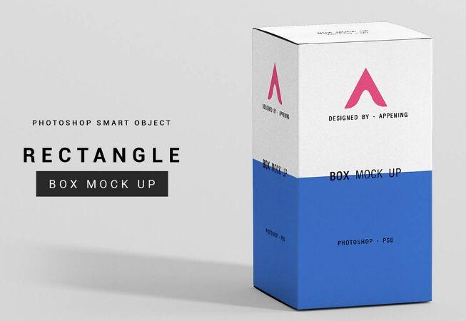 Rectangle Box Mockup Set