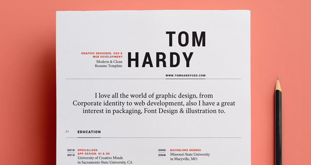 simple resume template vol12