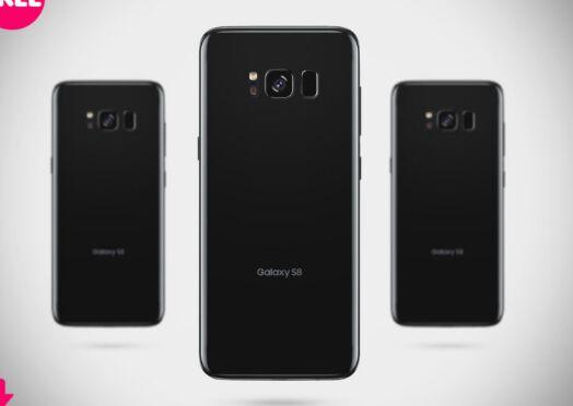 Free Samsung Galaxy S8 Back Mockup PSD