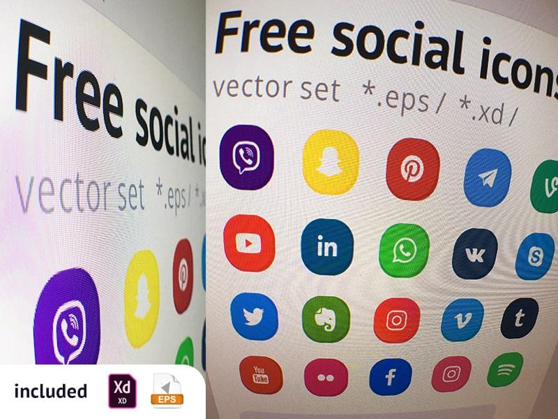 Free Set Social Icons