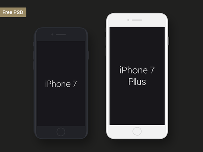 Free iPhone 7 & iPhone 7 Plus Mockup