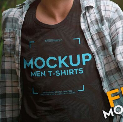 Men T-shirts – Free PSD Mockup