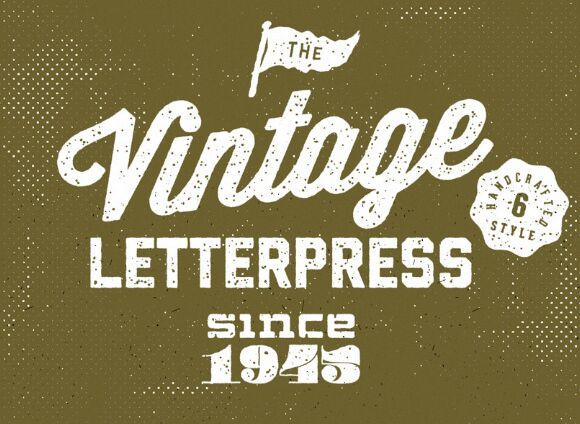 Vintage Letterpress Text Effects