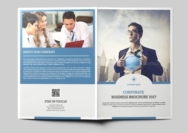 Corporate Bi-Fold Brochure Freebie