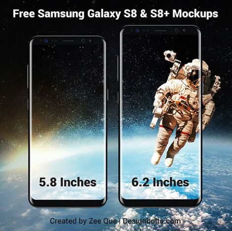 Free Samsung Galaxy S8 & S8+ Mockup Vector Files in Ai Format