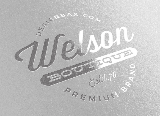 Metallic Silver Logo Mock-Up