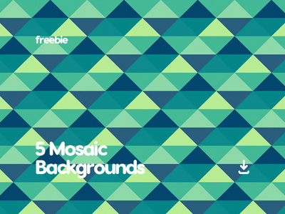 5 Free Flat Mosaic Pattern Background