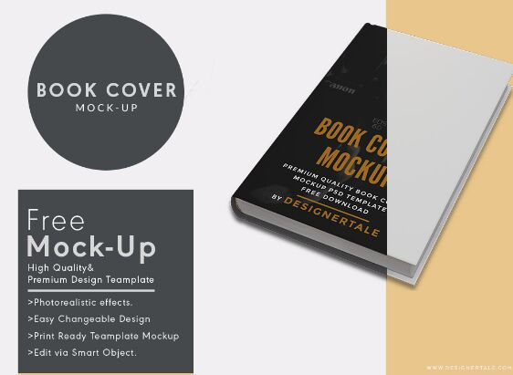 Book Cover Mock Up Psd Template