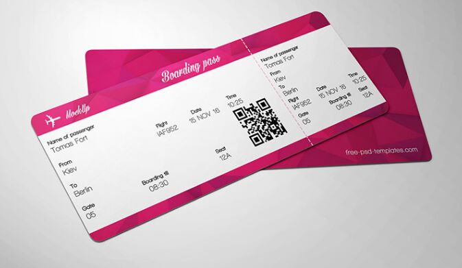 FREE TICKET MOCK-UP IN PSD