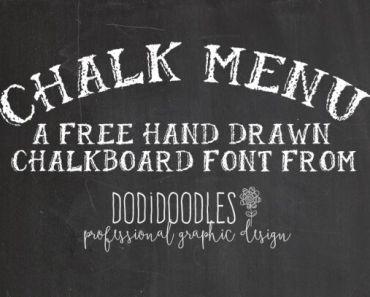 Free Chalkboard Font from dodidoodles