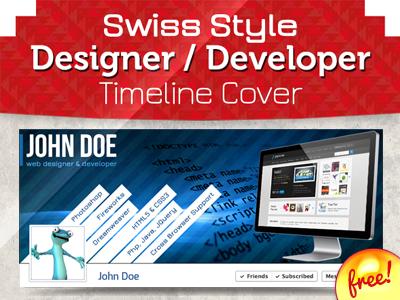 Swiss Style Designer Facebook Timeline Cover