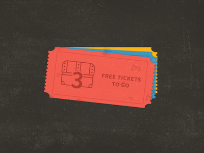 Tickets PSD Freebie