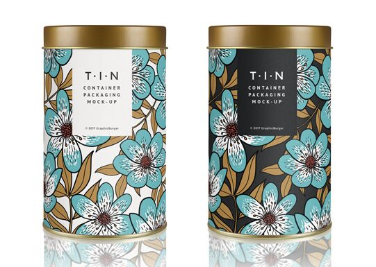 Tin Container Packaging MockUp #2