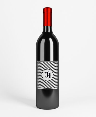 Wine bottle mockup PSD with parallax