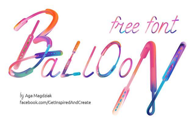 Free Font Balloon