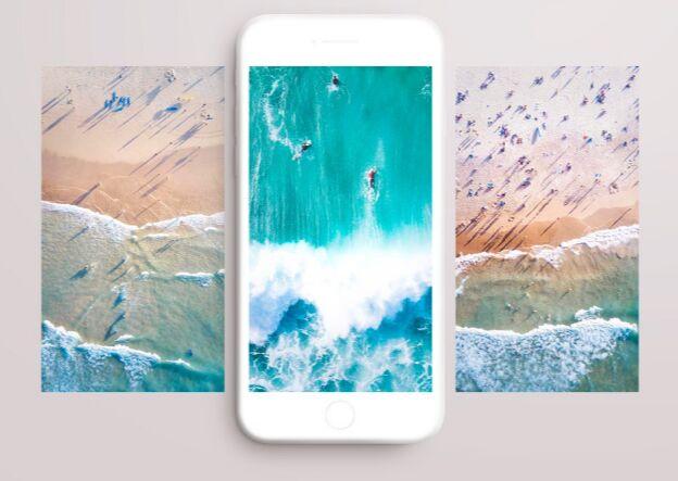 Free Minimalistic White IPhone 7 Mockup