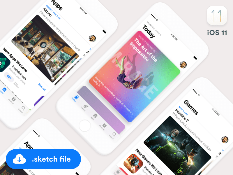 iOS11 App Store GUI (Sketch freebie)
