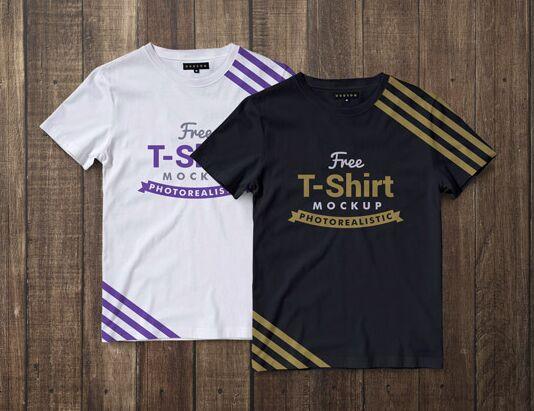 Free Premium Regular Fit Half Sleeves T-shirt Mockup PSD