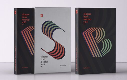 Psd Slipcase Book Mockup Vol8
