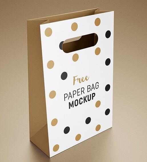 Free gift bag mockup