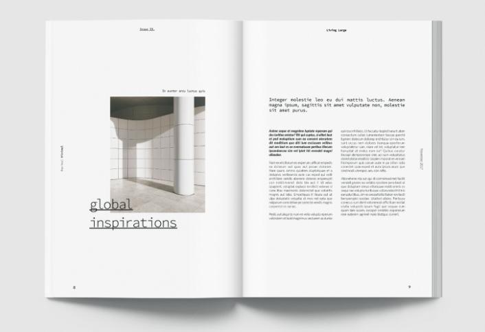 Maximal Minimal - Free Magazine Template