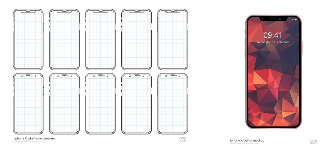 iPhone X UX Template