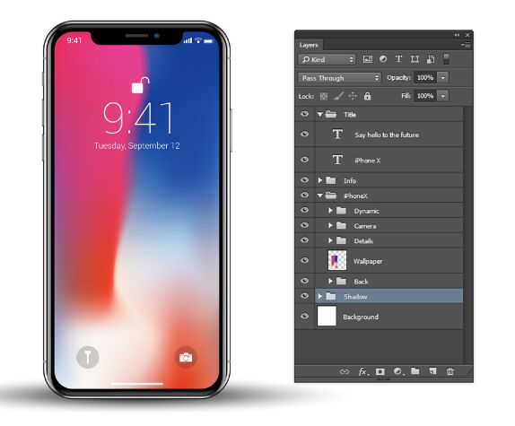 iPhone X vector free download