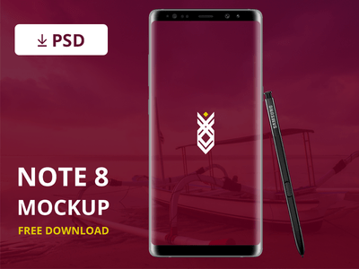 Note 8 Mockup ( free download )