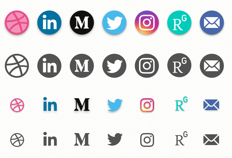Social Media Icons Freebie (Sketch)