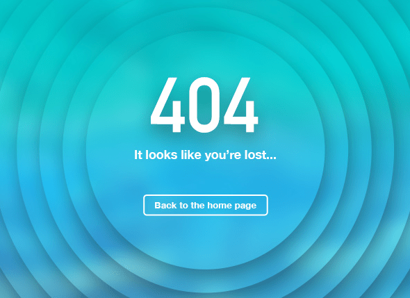 Creative 404 Page Template PSD