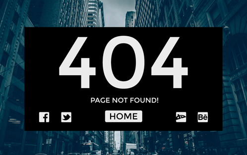 Great 404 Page Not Found Template Images >> Error Page Free ...
